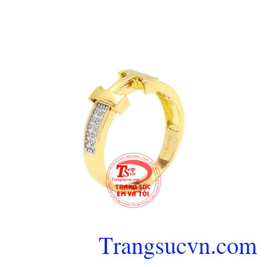 Nhẫn vàng chữ H đẹp