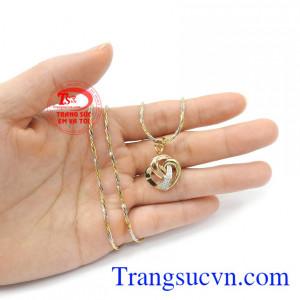 Bộ dây chuyền nữ trái tim tình yêu tinh tế thời trang, phù hợp phong cách phái đẹp
