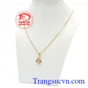 Sản phẩm thích hợp làm quà tặng cho người thân hoặc bạn bè,Bộ dây vàng nữ dịu dàng