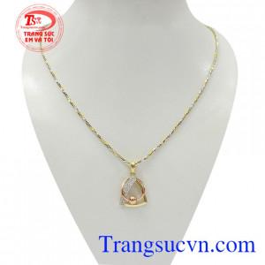 Bộ dây vàng nữ quý phái vàng 18k màu sắc đẹp, chất lượng cao, kết hợp độc đáo, mới lạ