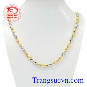 Dây chuyền vàng đẳng cấp quý ông được nhập khẩu từ Italy với chế tác từ vàng 18k tinh xảo.