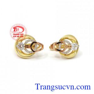Hoa tai nữ vàng đẳng cấp thời trang