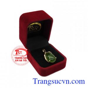 Mặt dây nephrite thiên nhiên sang trọng bảo hành uy tín, giao hàng toàn quốc.