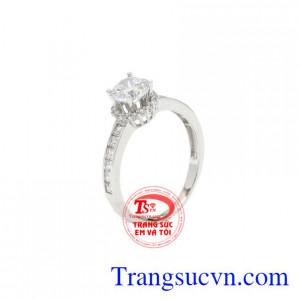 Nhẫn nữ vàng trắng độc đáo