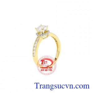 Nhẫn nữ vàng yêu thương