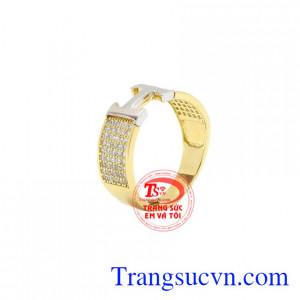 Nhẫn vàng chữ H chất lượng