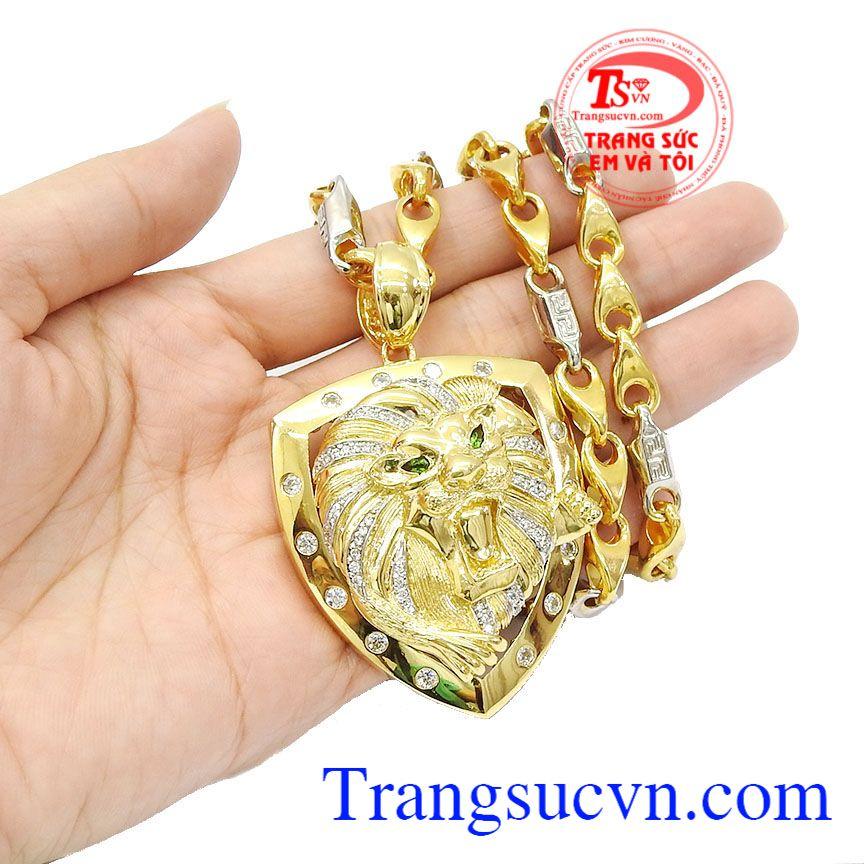 Bộ dây được nhiều khách hàng ưa chuộng và lựa chọn,Bộ trang sức sư tử dũng mãnh