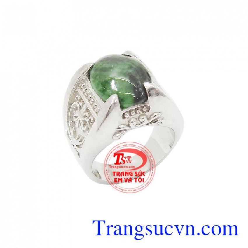 Nhẫn bạc nam ngọc cẩm thạch