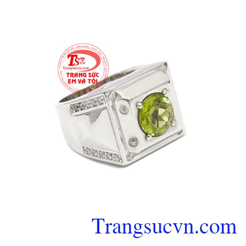 Nhẫn bạc nam Peridot bạc đẹp, chất lượng uy tín, giao hàng nhanh trên toàn quốc