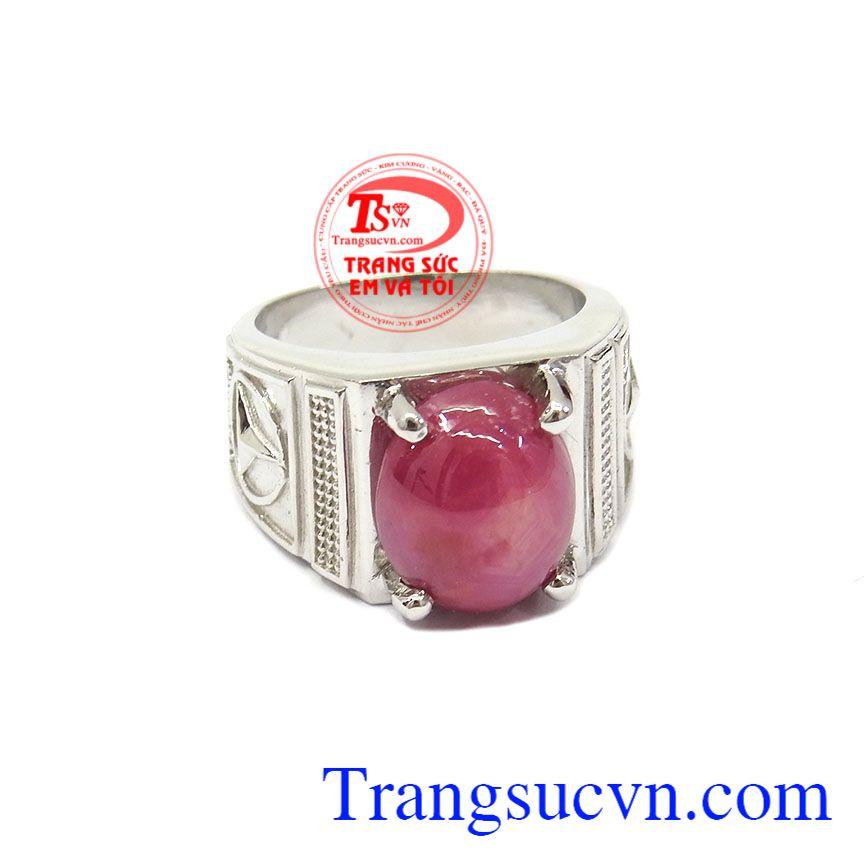 Nhẫn bạc nam Ruby đẹp chất lượng uy tín, giao hàng nhanh trên toàn quốc