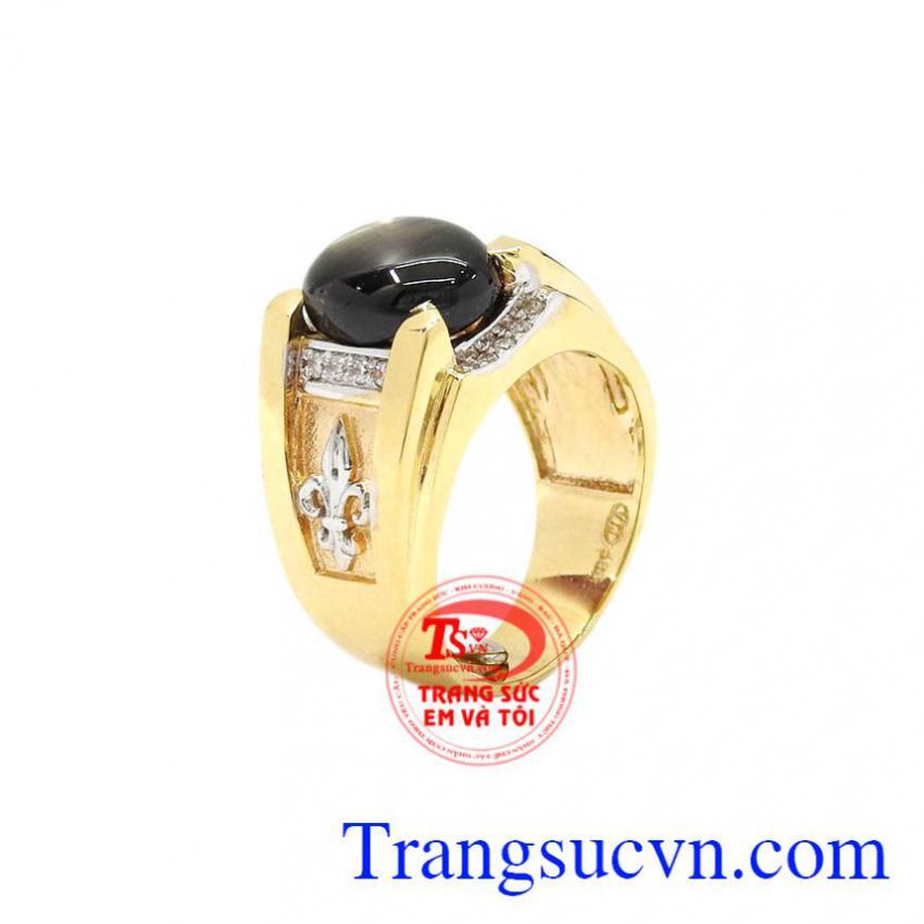 Nhẫn nam vàng Sapphire sao