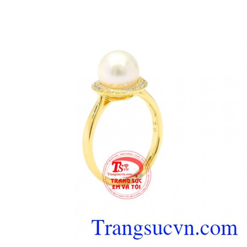 Nhẫn nữ vàng ngọc trai đẹp