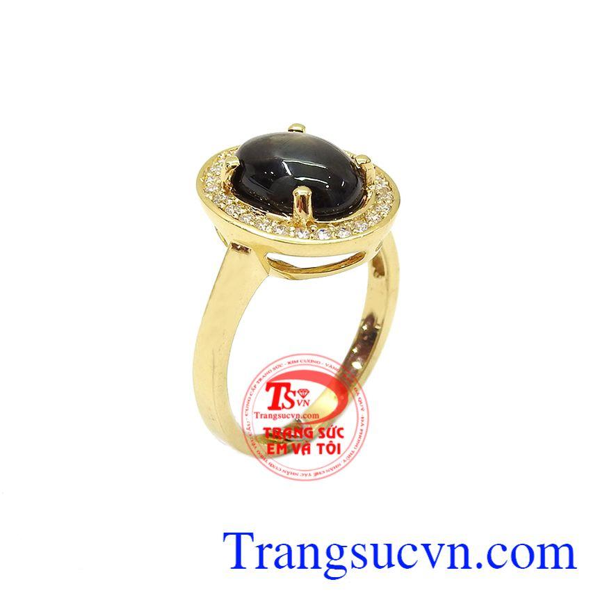 Nhẫn saphir sao quý phái