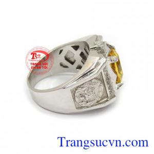 Nhẫn bạc thạch anh vàng mạnh mẽ là món quà tuyệt vời cho người yêu thương.