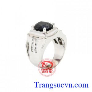 Nhẫn nam bạc Sapphire đẹp