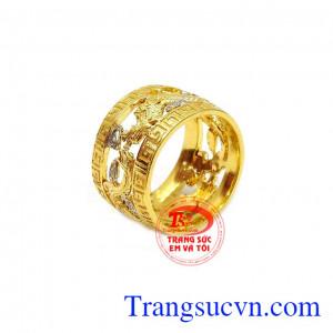 Nhẫn nam chạm khắc rồng