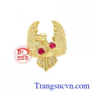 Nhẫn nam vàng đại bàng