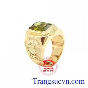 Nhẫn nam vàng Peridot chất lượng