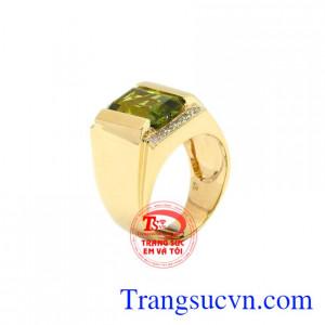 Nhẫn nam vàng peridot đẹp