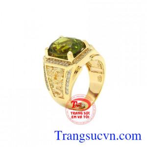 Nhẫn nam vàng Peridot sang trọng