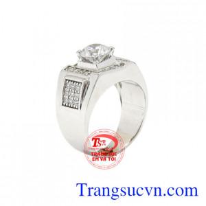 Nhẫn nam vàng trắng nổi bật