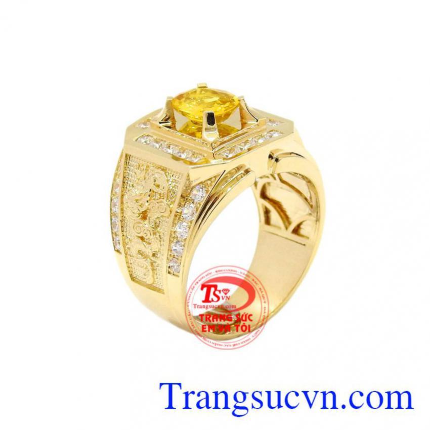 Nhẫn nam sapphire vàng sang trọng