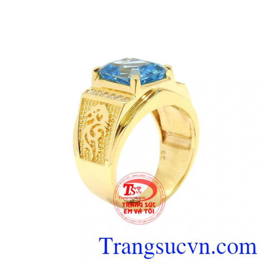 Nhẫn nam vàng Topaz chất lượng