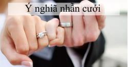 Ý nghiã nhẫn cưới