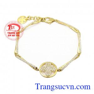 Lắc tay nữ vàng Van cleef