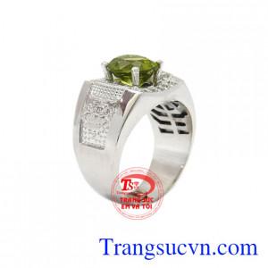 Nhẫn nam bạc Peridot