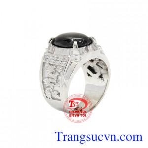 Nhẫn nam bạc Sapphire sao đẹp
