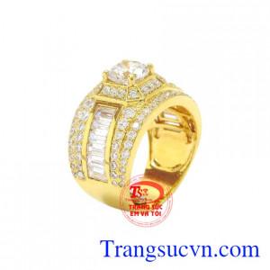 Nhẫn nam vàng màu thời thượng