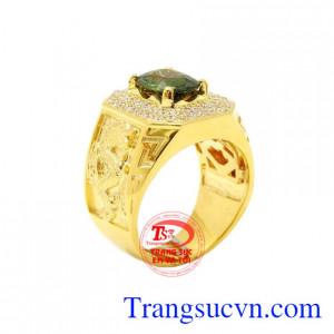 Nhẫn nam vàng Sapphire sang trọng