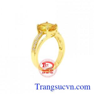 Nhẫn nữ Sapphire vàng chất lượng