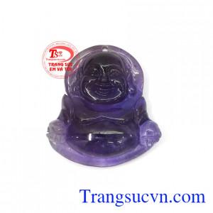 Phật Di Lặc thạch anh tím may mắn