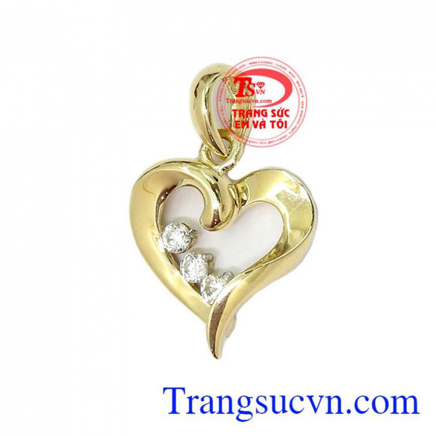 Mặt dây trái tim vàng