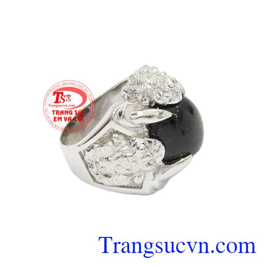 Nhẫn bạc Sapphire sao danh vọng chất lượng.