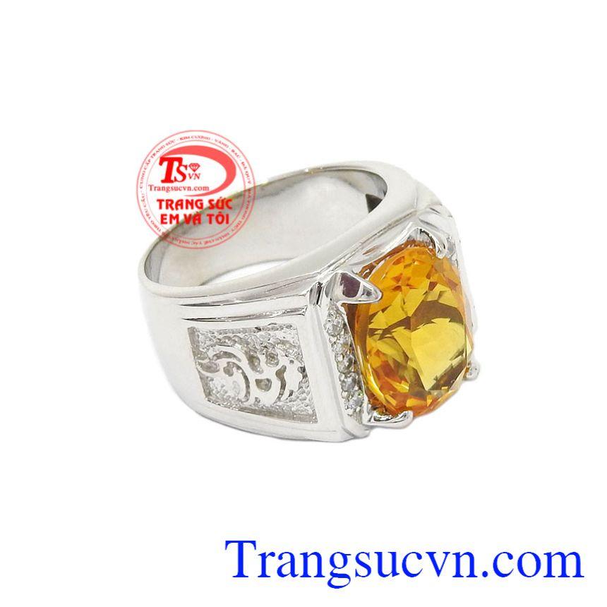 Nhẫn bạc thạch anh vàng công danh sẽ là sự lựa chọn hoàn hảo để làm quà tặng cho người thân thương.