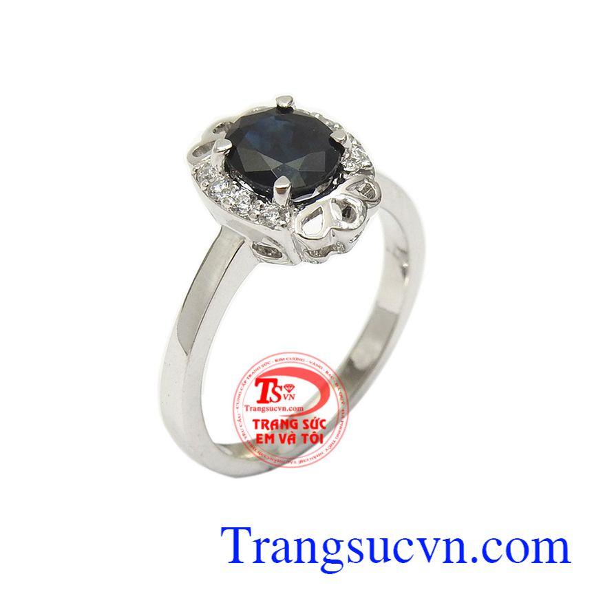 Nhẫn nữ Sapphire thời thượng
