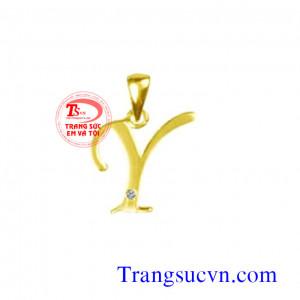 Chữ Y Vàng tây mặt