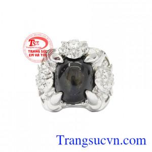 Nhẫn bạc Sapphire sao danh vọng mang lại vẻ lôi cuốn, nam tính cho phái mạnh.