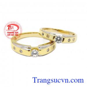 Nhẫn cưới vàng hạnh phúc bền lâu