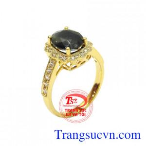 Nhẫn nữ saphir thiên nhiên đẹp