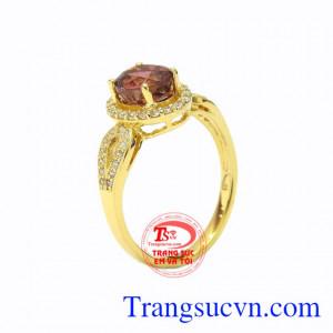 Nhẫn nữ vàng Tourmaline