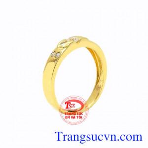 Nhẫn nữ vàng trang nhã