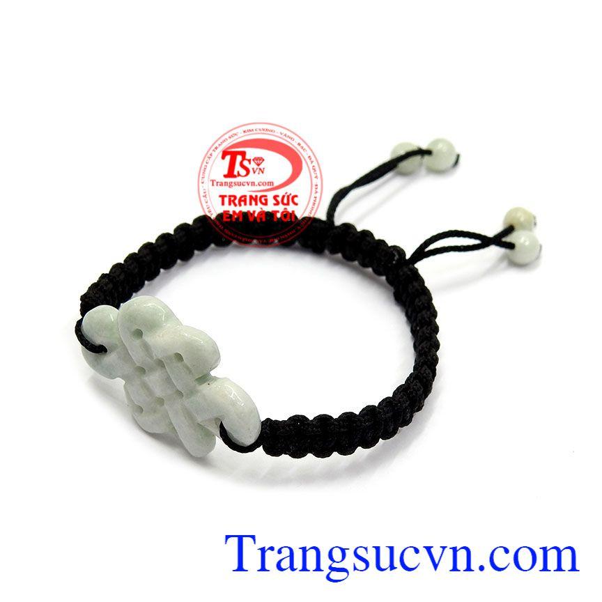 Dây tết ngọc cẩm thạch mang ý nghĩa may mắn, tài lộc và sức khỏe cho người đeo