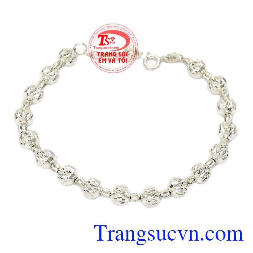 Lắc tay nữ bi bạc hợp thời trang, là món quà tinh tế dành cho người thương vào những dịp đặc biệt.