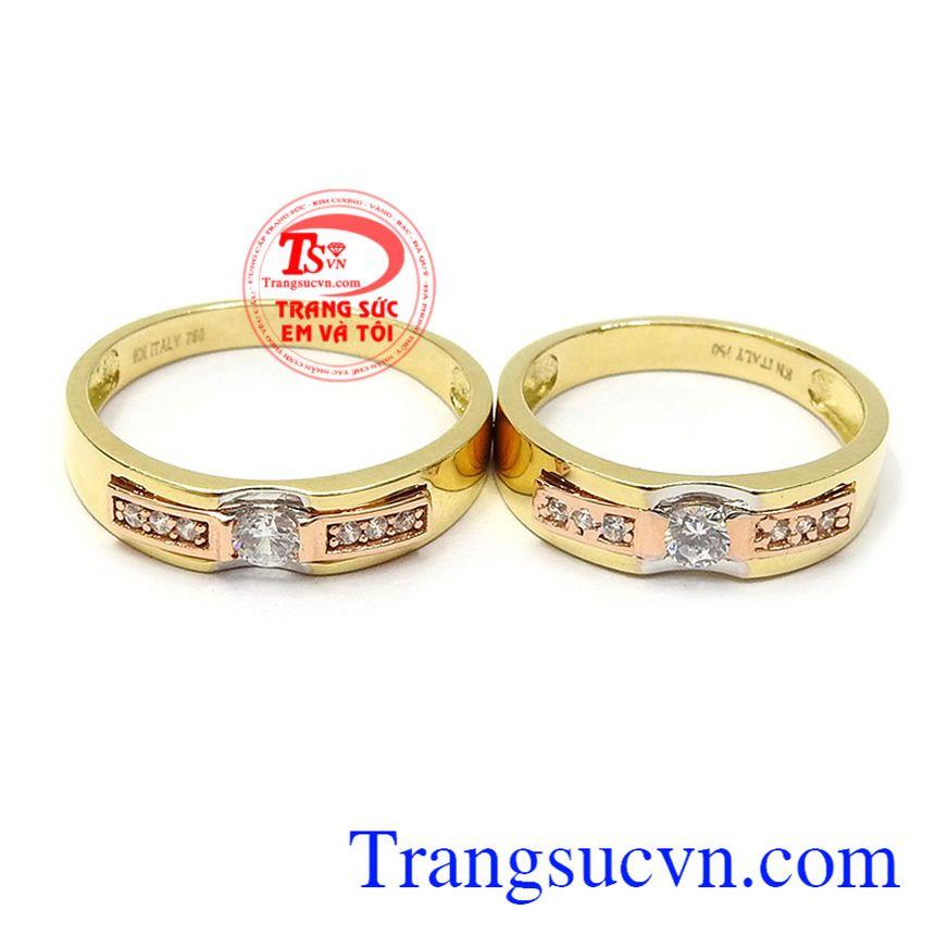 Nhẫn cưới tình yêu viên mãn là biểu tượng cho tình yê bền chặt, sợi dây gắn kết yêu thương của hai người yêu nhau