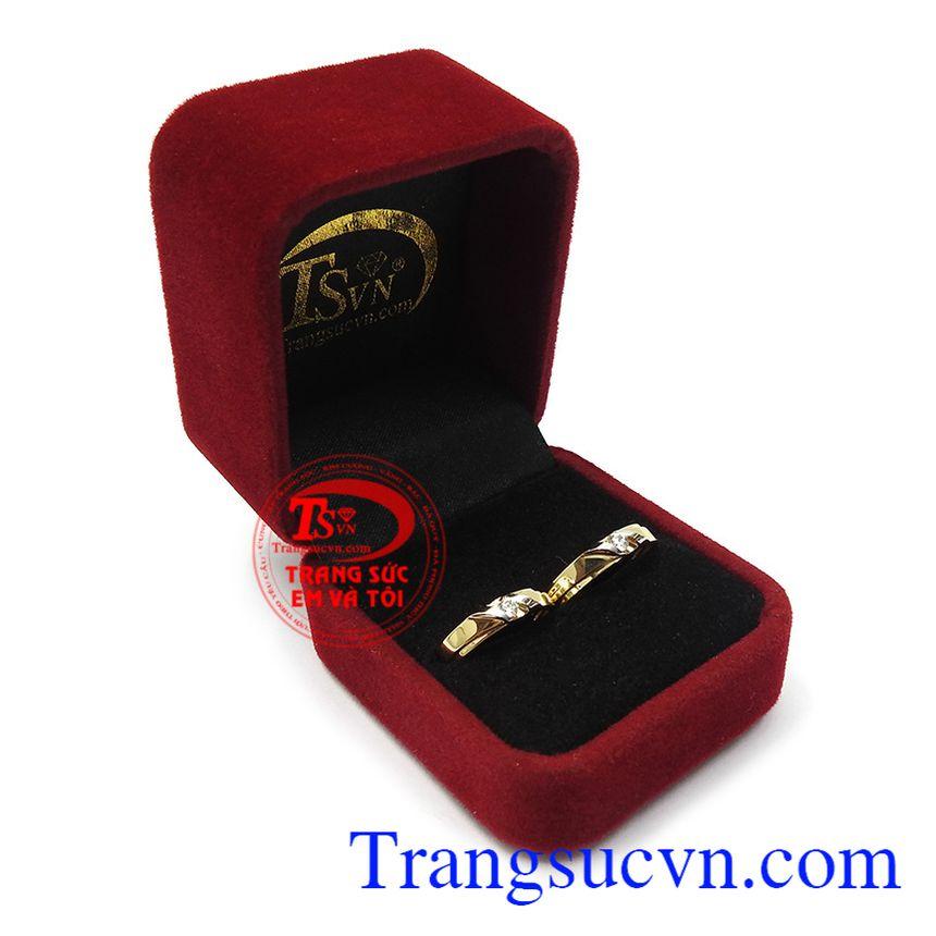 Nhẫn cưới vàng tây hạnh phúc thương hiệu uy tín, chất lượng, bảo hành 12 tháng