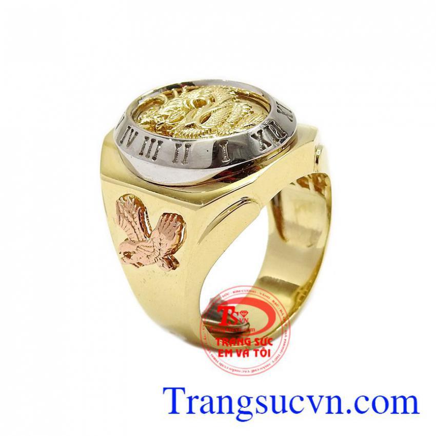 Nhẫn nam Rồng vàng nhập khẩu